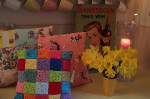 hand crochet cushion