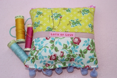 vintage fabric pin cushion