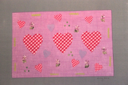 pretty gingham hearts