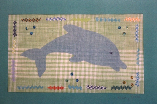 Your child could make a lovely dolphin picture to take home