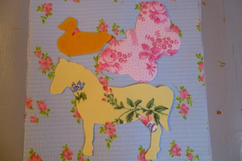 vintage fabric horse
