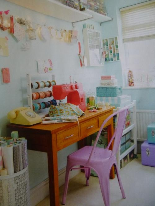 Torie's workroom